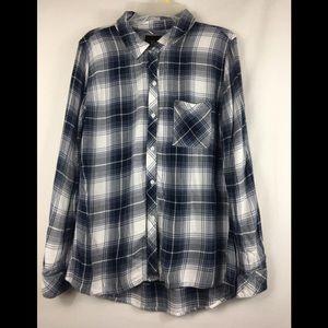 Rails flannel plaid button down shirt size medium